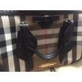 Burberry - Check And Leather Bag thumb 1